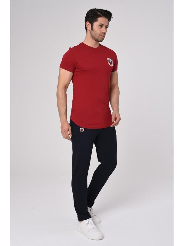 Baskılı Kısa kollu Eşofman Takım (Kırmızı-Siyah) -1700
