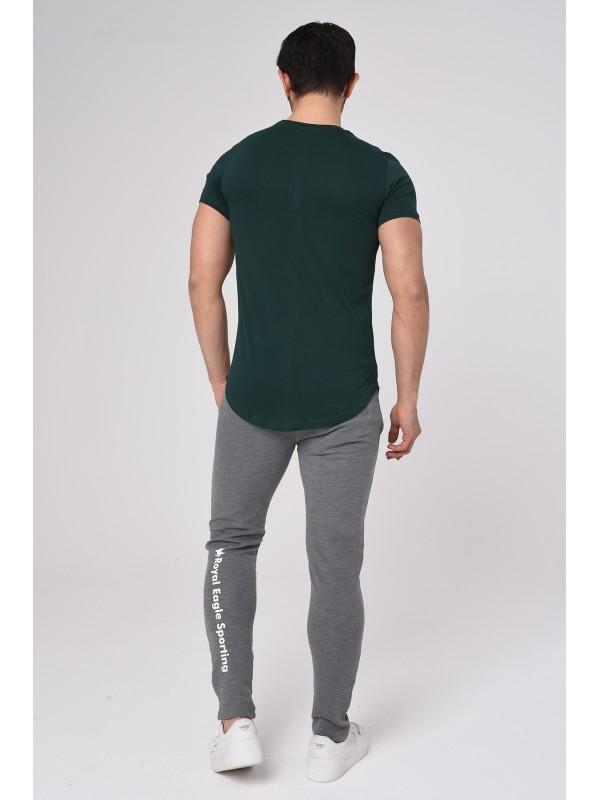 Baskılı Kısa kollu Eşofman Takım (Yeşil-Gri) -1702